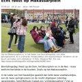 Echt feest op Makassarplein