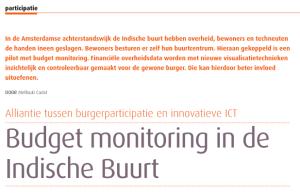 Cadat, Mellouki, Budget monitoring in de Indische Buurt. In: Sociaal Bestek, blz. 16-18, juni 2012.
